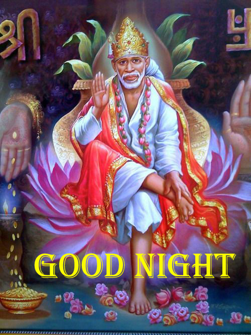 Sai Baba Good Night Photo