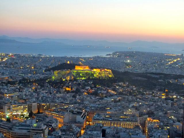 Vistas de Atenas desde mirador