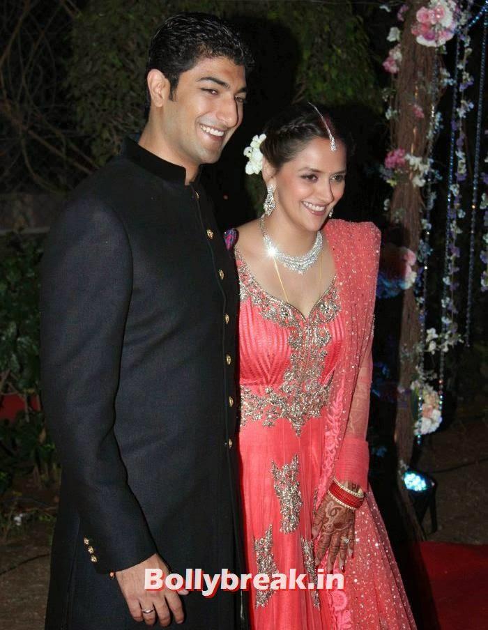 Vaibhav Vohra, Ahana Deol, Ahana Deol Wedding & Reception Pics