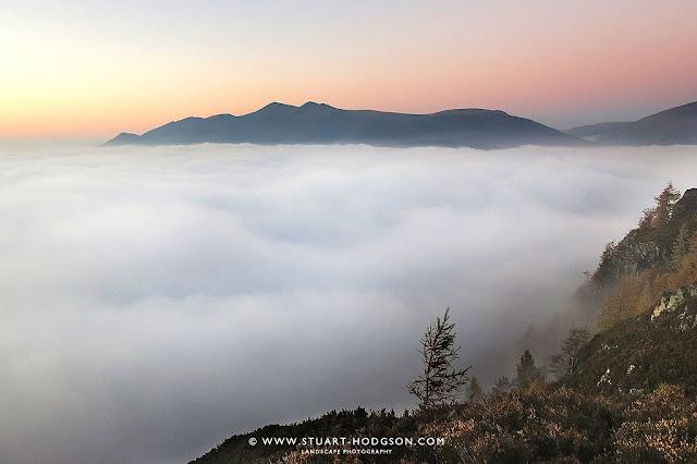 Cloud inversion walla crag keswick lake district views see blencathra terry bnd skiddaw