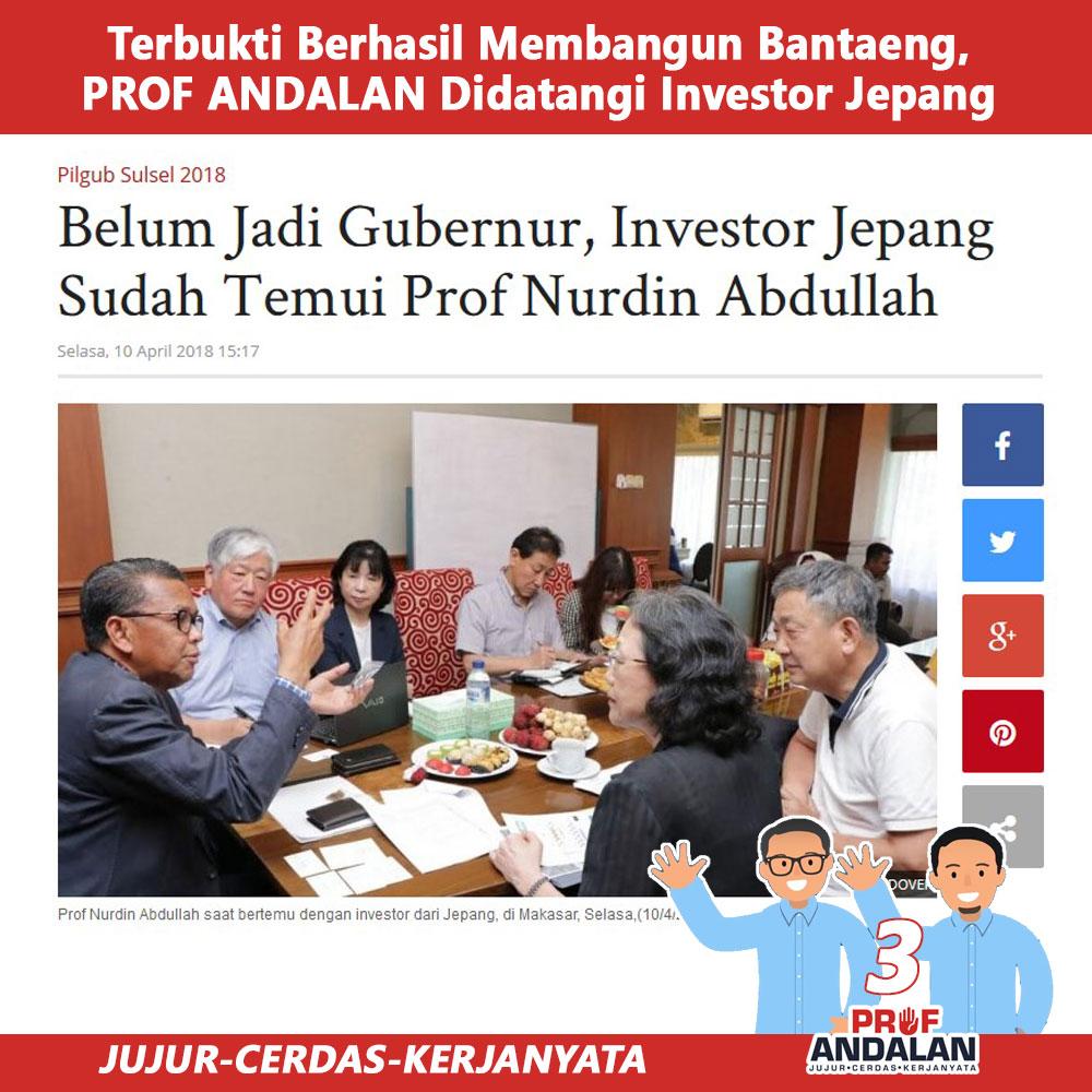 Belum Jadi Gubenur, Investor Jepang Temui Prof Nurdin Abdullah