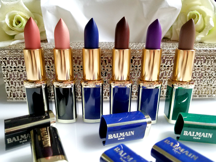 Review: L´Oréal Paris X Balmain Couture Lipstick Collection 246 Confession - 356 Confidence - 901 Rebellion - 650 Power - 467 Freedom - 648 Glamazone madame keke