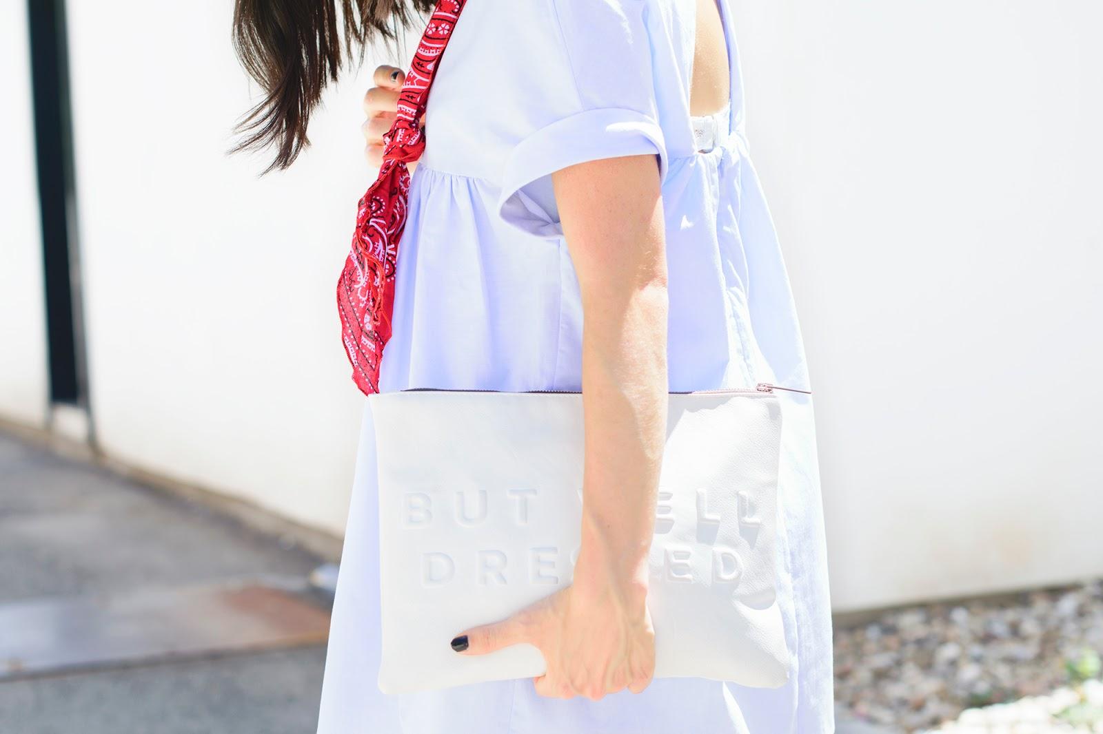 look con vestido azul bebe de zara