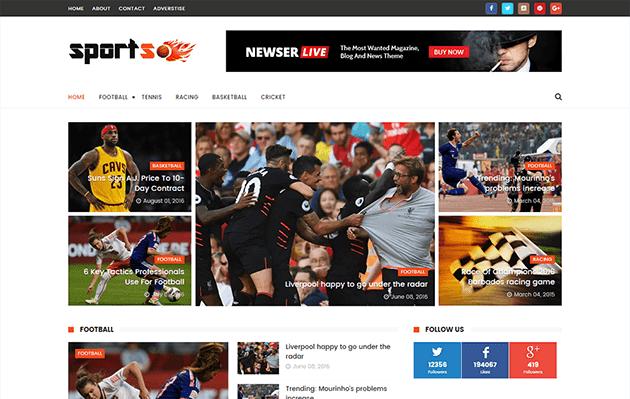 SportsMag Responsive Blogger Template