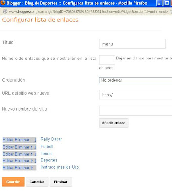 configuracion de plantillas para blogger
