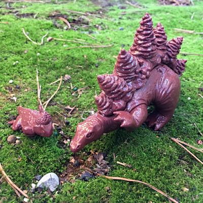 "Unpainted ""Milk Chocolate Brown"" Stegoforest Vinyl Figure by Ghost&Flower"