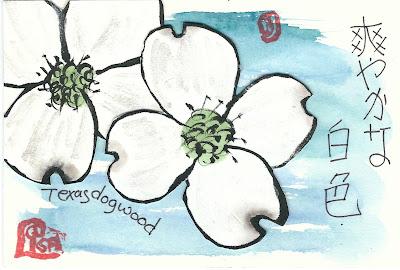 Lisa Jastram flower etegami