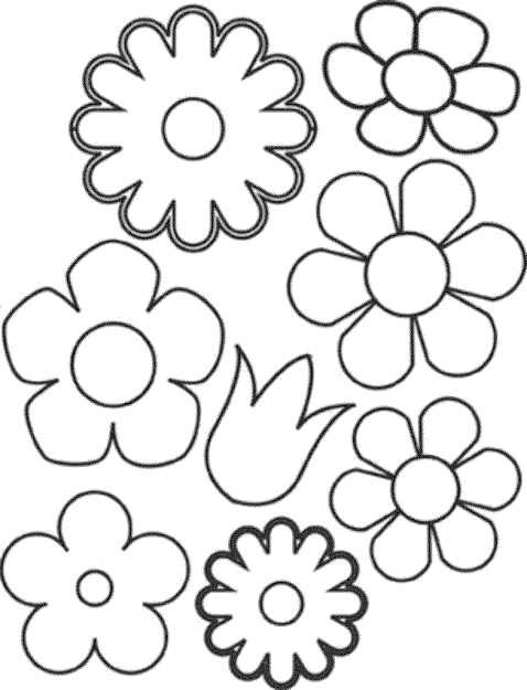 Flowers Printable Coloring Pages  Printable Kids Colouring Pages