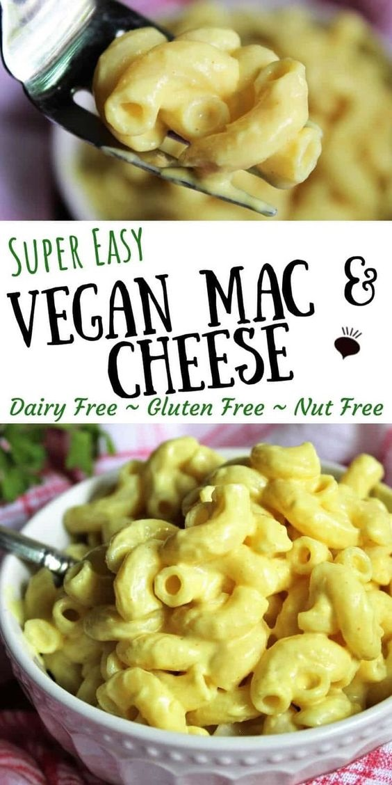 Super Easy Vegan Mac And Cheese