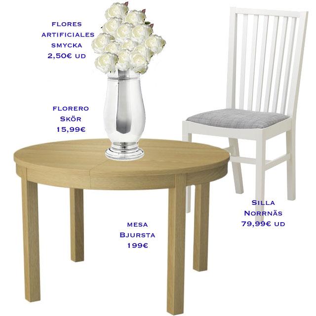 A poner la mesa perlas y coco for Ikea mesa extensible