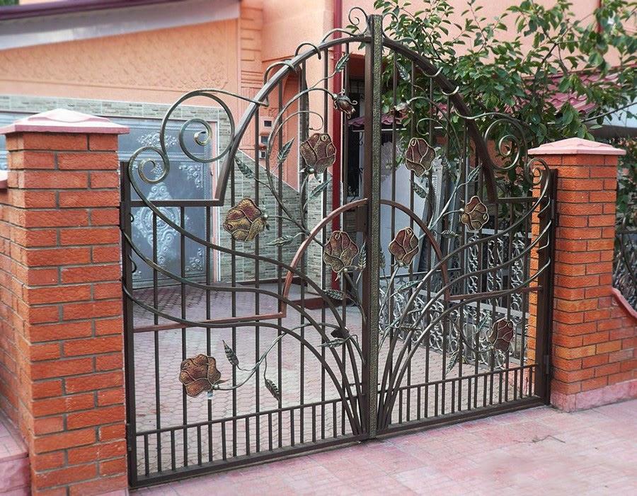 Ворота кованые фото картинки