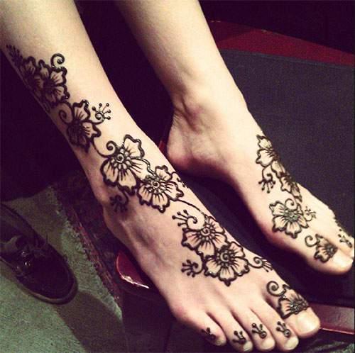 Mehndi Simple Kaki : Henna simple untuk kaki makedes