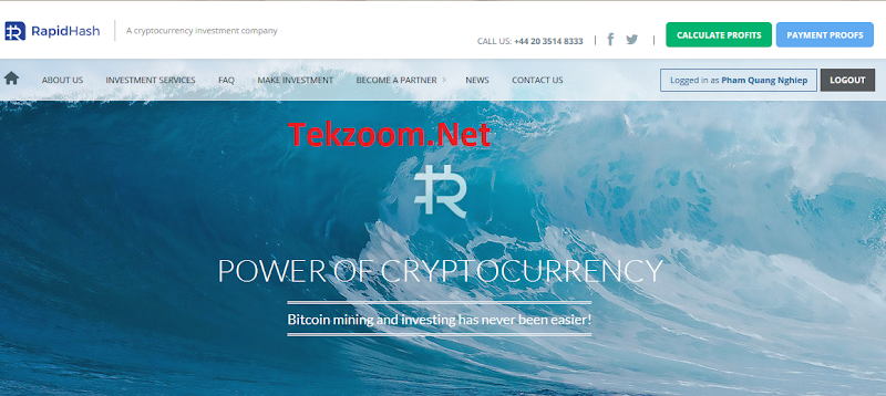 [SCAM] Review RapidHash - Lãi 0.15 - 0.2% hằng giờ [3.6 - 4.8% hằng ngày] - Đầu tư tối thiểu 0.001 BTC - Thanh toán tức thì - Hoàn vốn đầu tư
