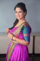Shilpa Chakravarthy in Purple tight Ethnic Dress ~  Exclusive Celebrities Galleries 065.JPG