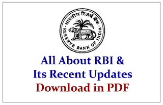 All about RBI and Its Recent Updates 2015- Banking Awareness (IBPS PO Mains Special)