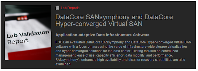 Enterprise Strategy Group's New Lab Report Validates DataCore Parallel I/O Performance VMware Virtual Volume Advances and More…