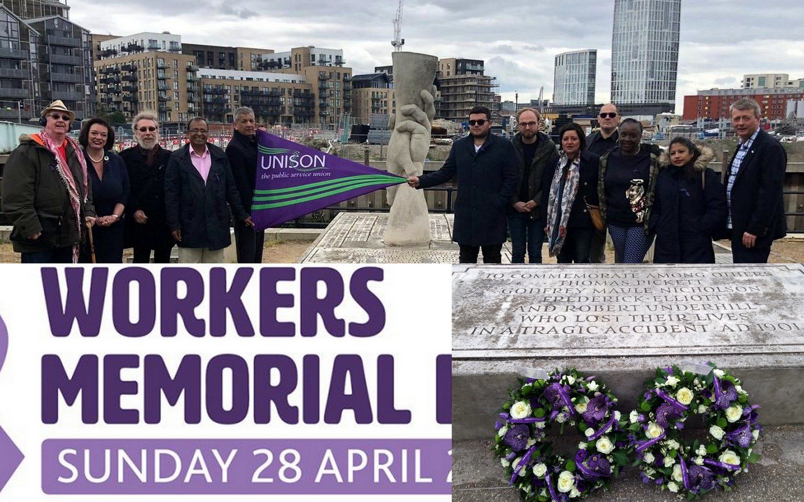 John S Labour Blog Workers Memorial Day 2019 Unison Wreaths At