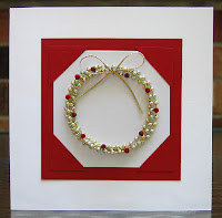 Square Bead Wreath Card with Quilled Berries