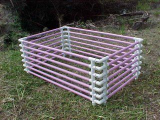 puppy playpen made of PVC pipe
