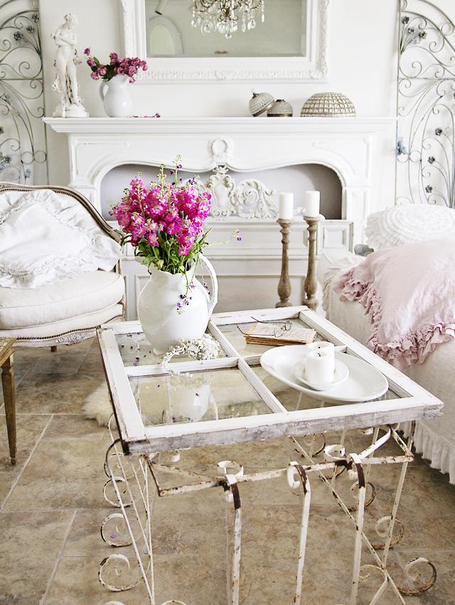Romantic elegant styling tips and seasonal changes - Refurbished living room furniture ...