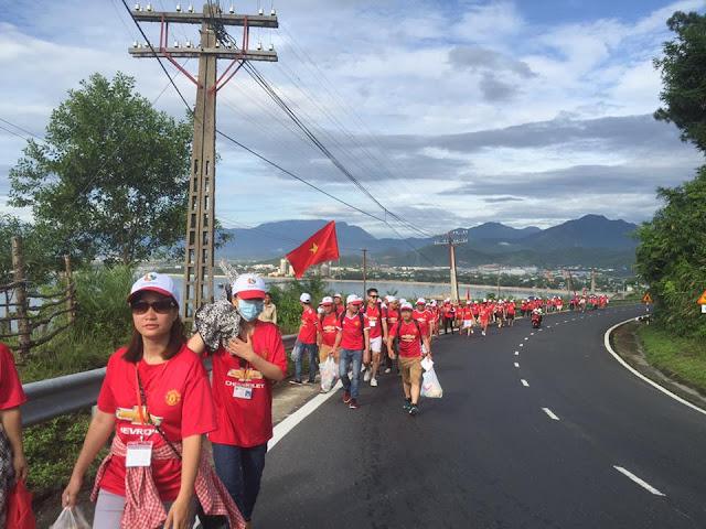 Vượt bộ Chinh phục đèo Hải Vân Quan 15/7/2017 - Công ty Bất động sản Tuấn 123