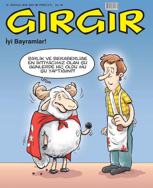 Gırgır Dergisi -14-20 Eylül 2016 Kapak Karikatürü