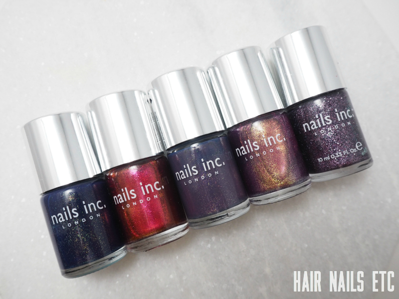 Nails Inc Shimmer Polish Swatches and Review