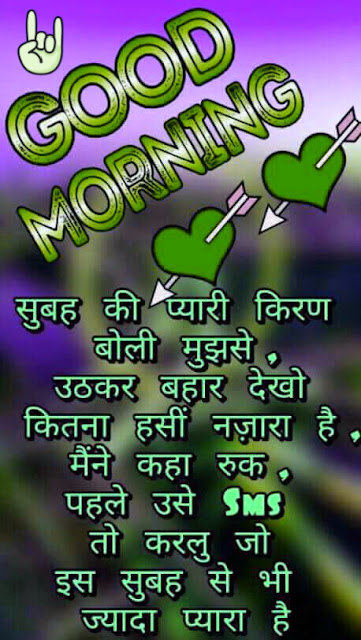 Good morning Hindi Shayari Image -