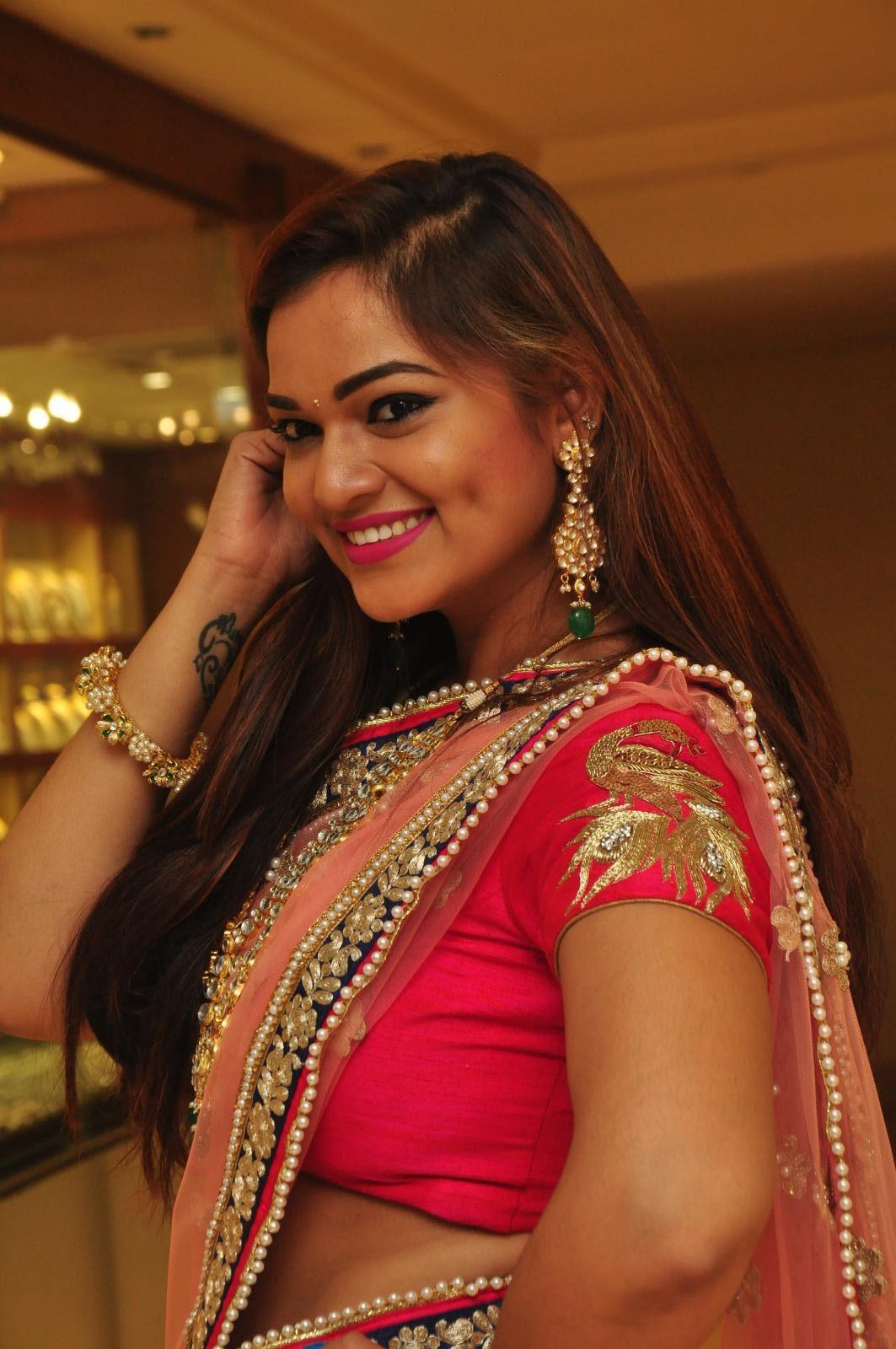 Aswhini latest sizzling half saree pics-HQ-Photo-15