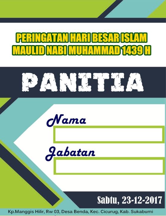 Template Name Tag Panitia : template, panitia, Panitia, Download