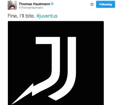 Logo Juventus baru apabila digigit. (Hi, Chargers!)