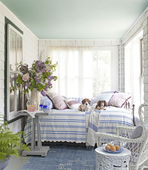 You Can Cover A Vintage Iron And Br Daybed With Cozy Coverlet Lots Of Fluffy Pillows It Makes Comfy Place To Relax In An Enclosed Porch