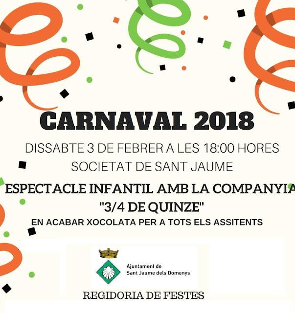 Esguard de Dona - Carnaval Infantil 2018 a la SCR Sant Jaume dels Domenys