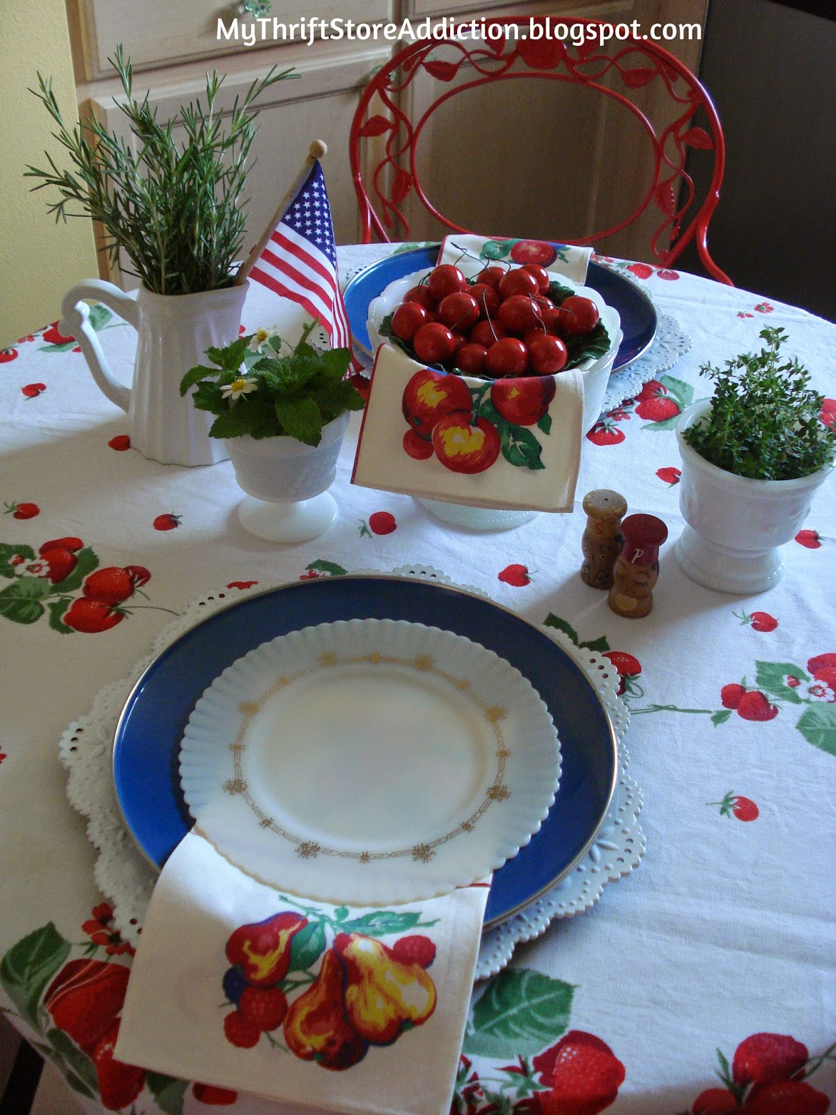 Vintage summer tablescape
