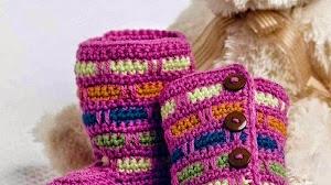 Botitas al crochet