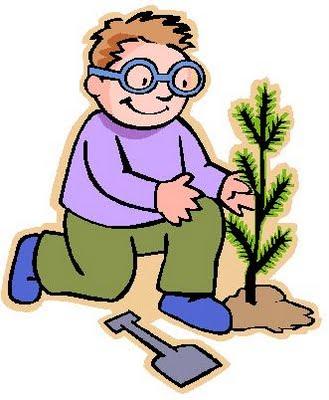 Dibujo sembrando una planta