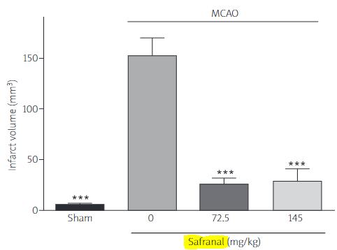 図:サフラノールと脳梗塞