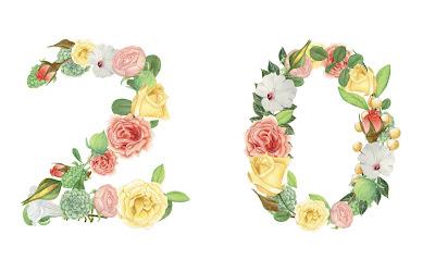 A floral number 20
