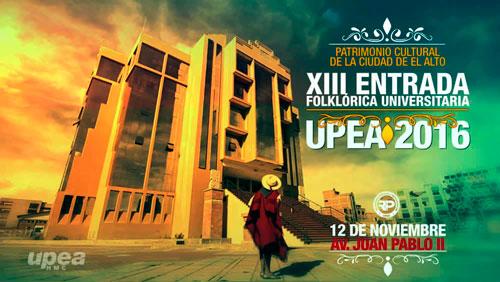 Rol de ingreso Entrada Folklórica Universitaria UPEA 2016