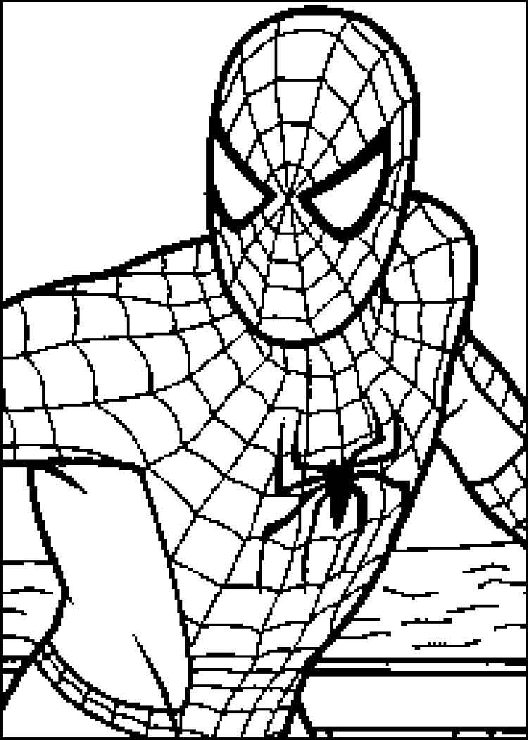 Best free disney coloring pages for boys spider man for Spider man images coloring pages