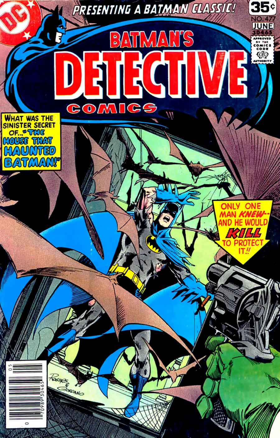 Detective Comics v1 #477 dc comic book cover art by Marshall Rogers