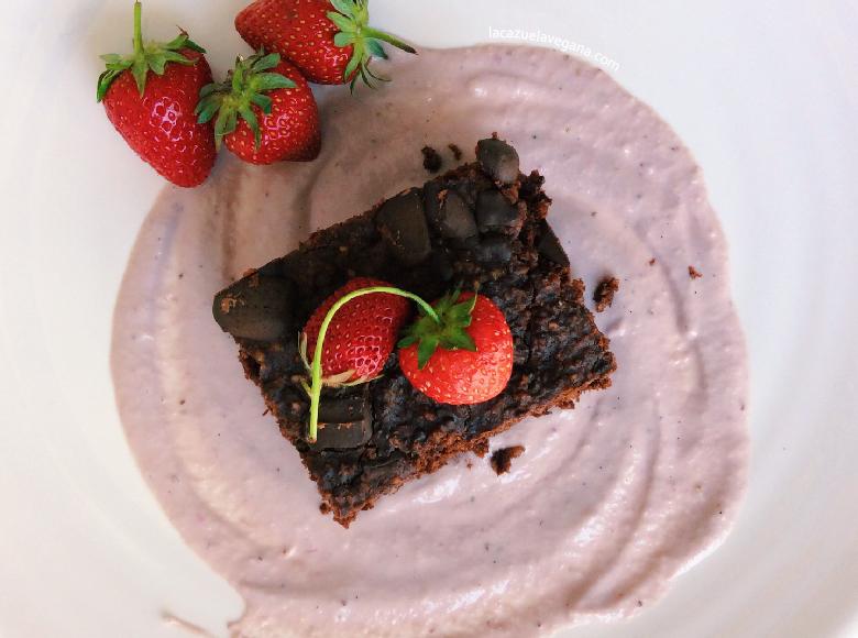 Brownie vegano alubias rojas