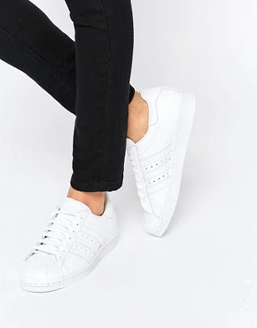 White Superstar with pearl metal toe cap, $153.66 from Adidas