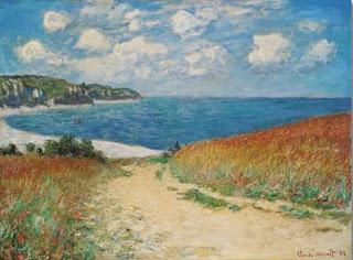 Chemin dans les blés à Pourville - Claude Monet