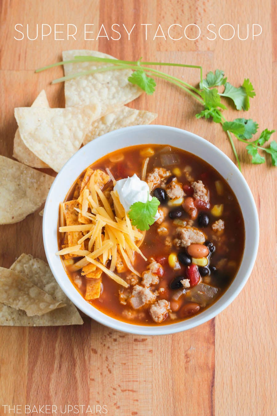 This simple and hearty taco soup is so easy to make, and full of delicious flavors!