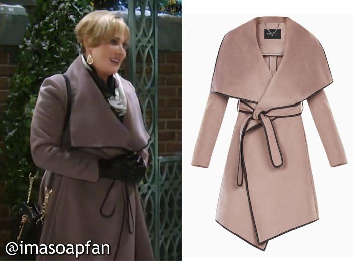 cf06944b8 Olivia Jerome's Belted Wool Wrap Coat - General Hospital, Season 54 ...