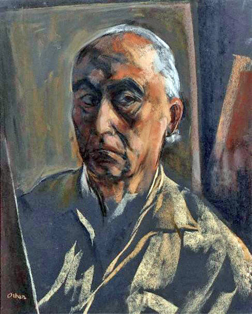 Desiderius Orban, Self Portrait, Portraits of Painters, Fine arts, Portraits of painters blog, Paintings of Desiderius Orban, Painter Desiderius Orban