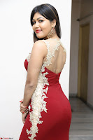 Rachana Smit in Red Deep neck Sleeveless Gown at Idem Deyyam music launch ~ Celebrities Exclusive Galleries 083.JPG