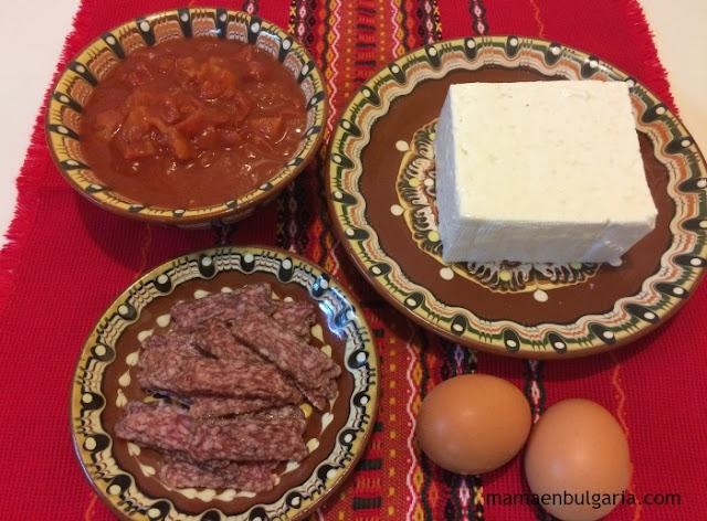 Ingredientes gyuveche tradicional búlgaro
