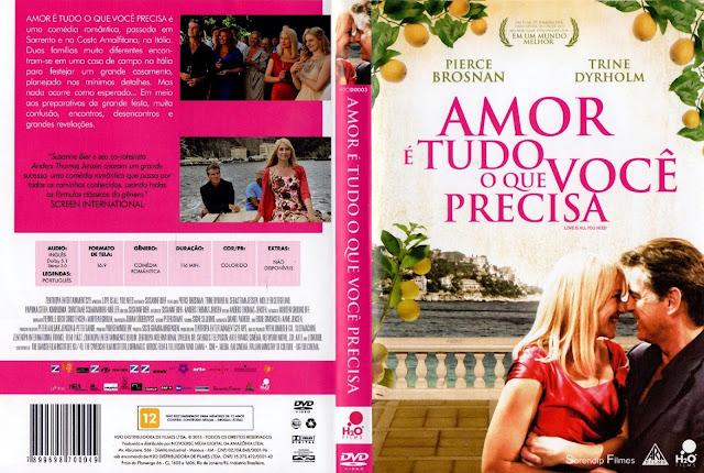 Capa DVD Amor é Tudo o Que Você Precisa